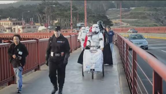 Stormtroopers Storm Across The Golden Gate Bridge