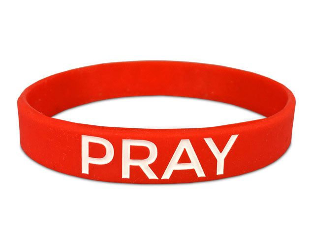 Pray Bracelet For A Cause In Red With White Text