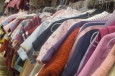 used clothes rack at consignment sale