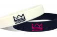 custom logo wristband saying wiseup