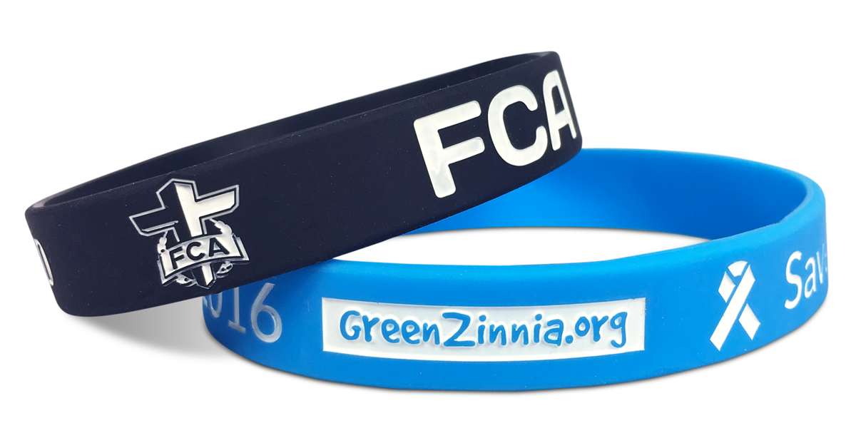 Personalized Rubber Bracelets Made For Fca And Greenzinnia Org