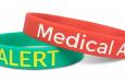 medical alert wristbands with custom messaging