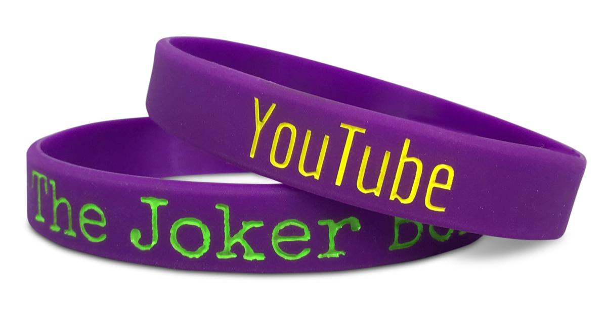 youtube wristbands in purple