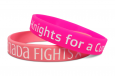 bracelets for a cause in two colors of pink