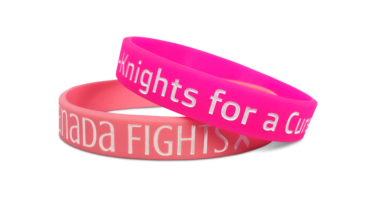 Awareness breast cancer wristband