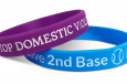 bracelets for a cause in purple and blue