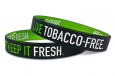 keep it fresh dual layer wristband in black with green interior