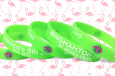 binghamton zoo wristbands in bright green