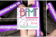 brestfeeding mama talk wristbands in purple with white text