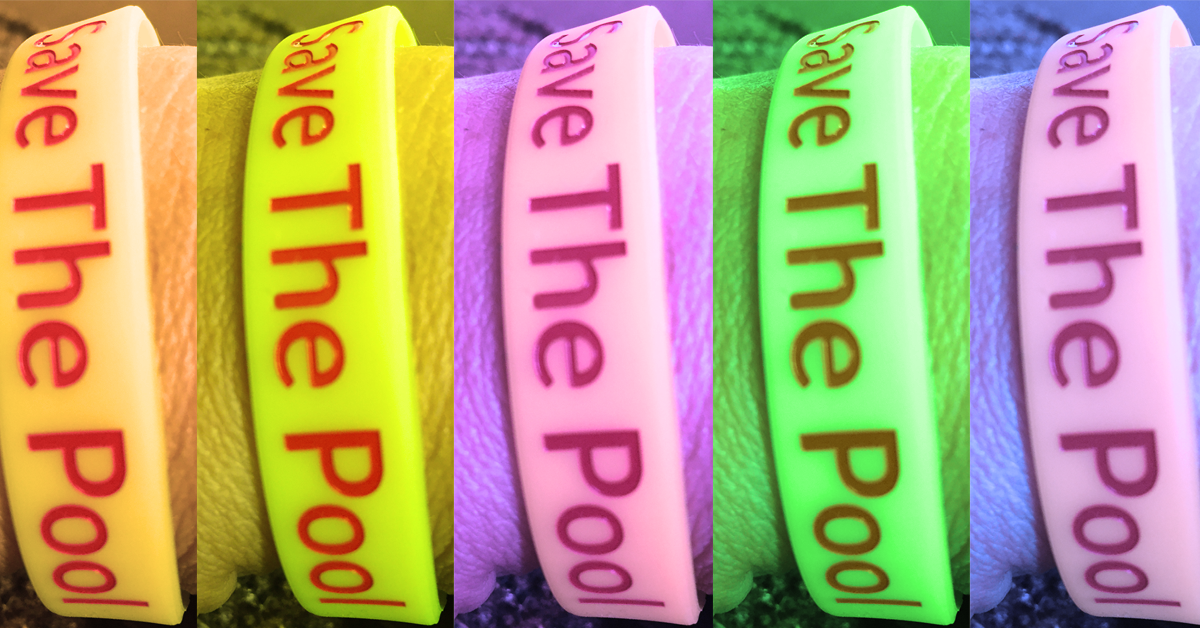 save the pool wristbands with color filters