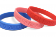 three wristbands in a stack