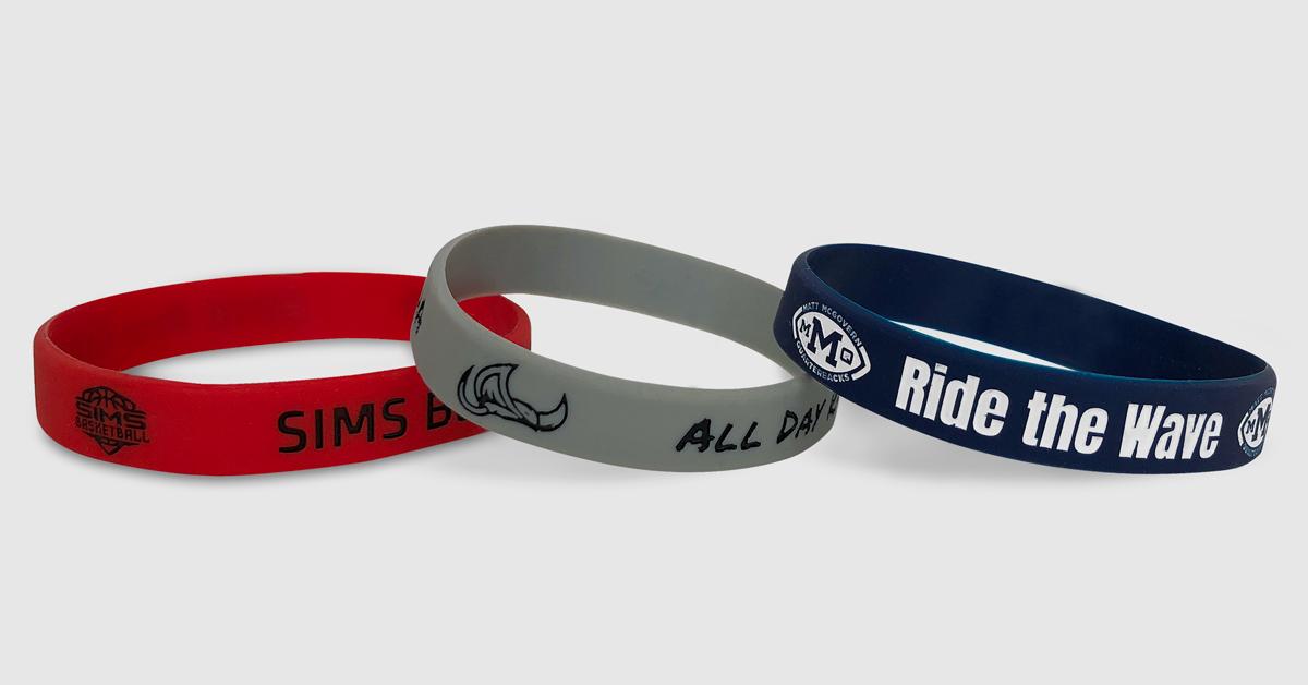 custom business company wristbands