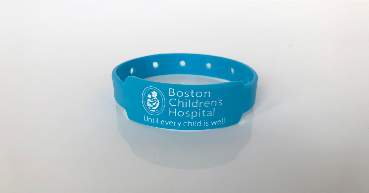 blue wristband for boston children's hospital