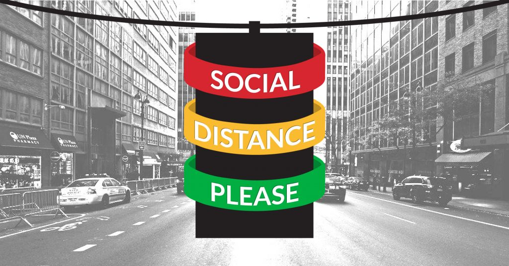 Social Distance Indicator Wristbands